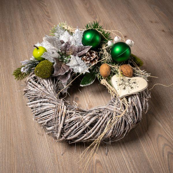 Vianočný veniec srdce