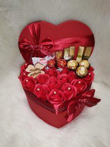 Flower box ROSE/CHOCO