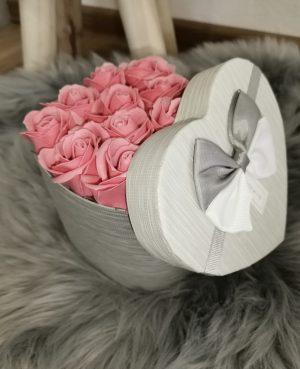Flower box srdce